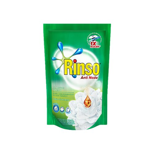 RINSO Anti Noda Classic Fresh Liquid 750 ml (12 Pouch)