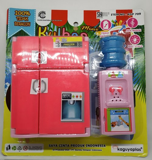 Mainan Kulkas Dispenser & Galon Bersuara