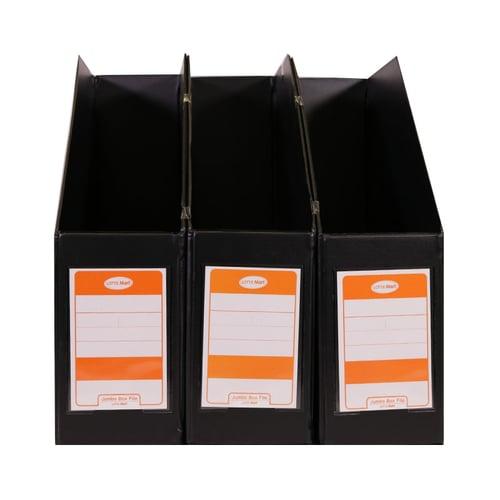 LOTTE MART T Jumbo Box File Hitam 3 Pcs