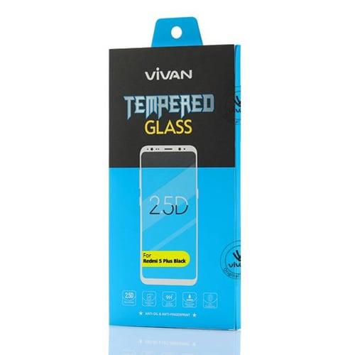 VIVAN for Redmi 5 Plus 2.5D Border Glue Full Screen Tempered Glas