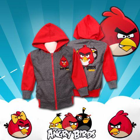 Jaket Anak Angry Birds - Dafnazz - Size 4 Tahun