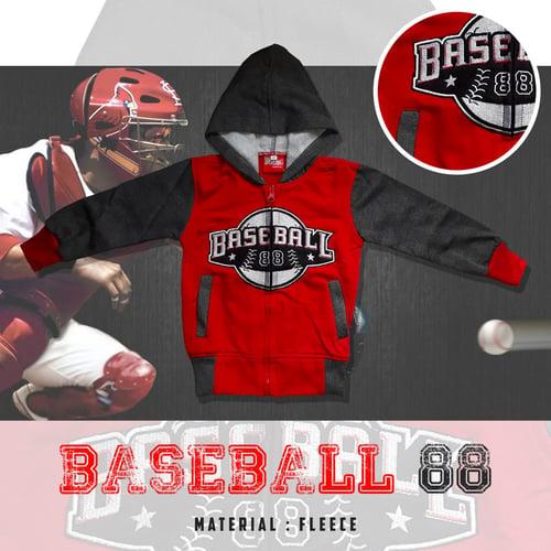 Jaket Anak Baseball 88 - Dafnazz - Size 4 Tahun