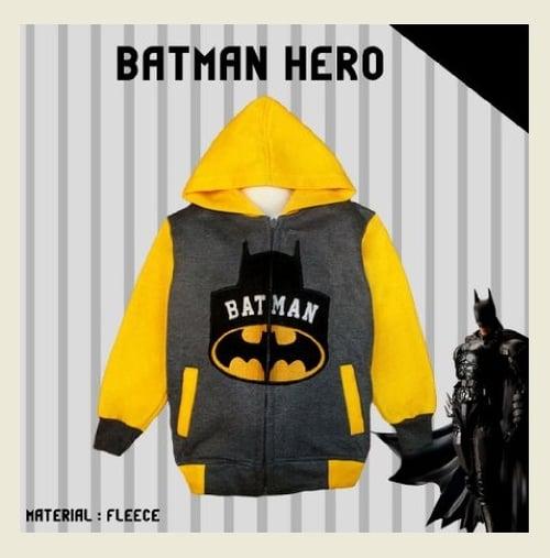 Jaket Anak Batman Hero - Dafnazz - Size 5-6 Tahun