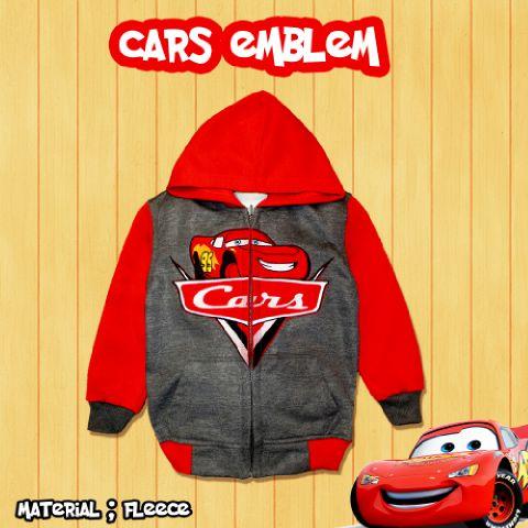 Jaket Anak Cars Emblem - Dafnazz - Size 8 Tahun