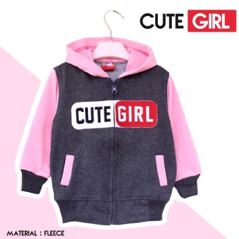 Jaket Anak Cute Girl - Dafnazz - Size 9-10 Tahun