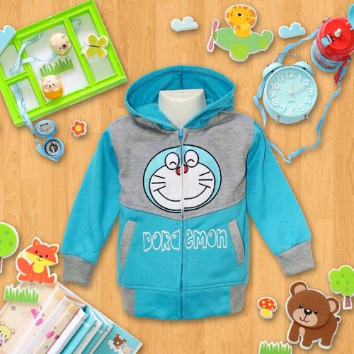 Jaket Anak Doraemon - Dafnazz - Size 4 Tahun
