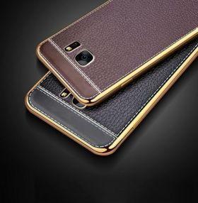NEW Tpu Leather Metal Bumper Case Iphone 7 Plus / 7S Plus