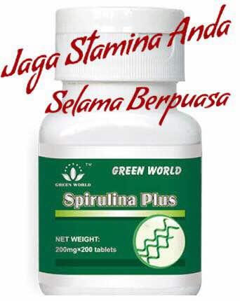 Green World Spirulina Plus Capsule Menjaga Stamina