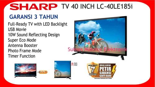 SHARP TV LED 40 inch -  LC-40LE185i/BK - Hitam