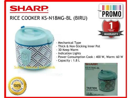 Sharp Rice Cooker KS-N18MG-BL (BLUE) Cap. 1.8 Liter 3in1, 400 Watt