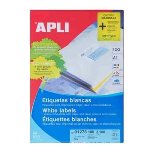 APLI Label White Paper 70 X 42.4MM 01276 2100 unit