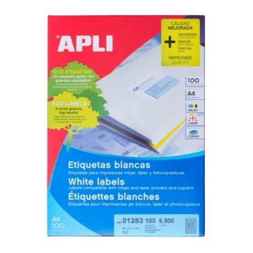 APLI Label White Paper 38 X 21.2MM 01283 6500 unit