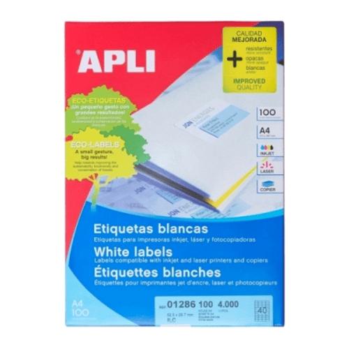 APLI Label White Paper 52.5 X 29.7MM 01286 4000 unit