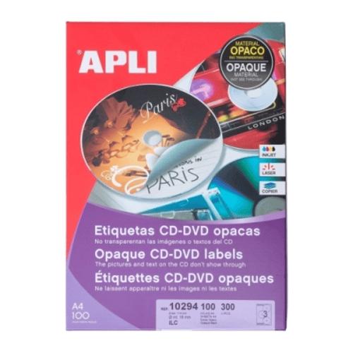 APLI Label Permanent Opaque Mega CD/DVD 10294 300 unit