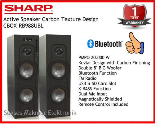 SHARP Speaker Active 20.000 W CBOX-RB988UBL PMPO