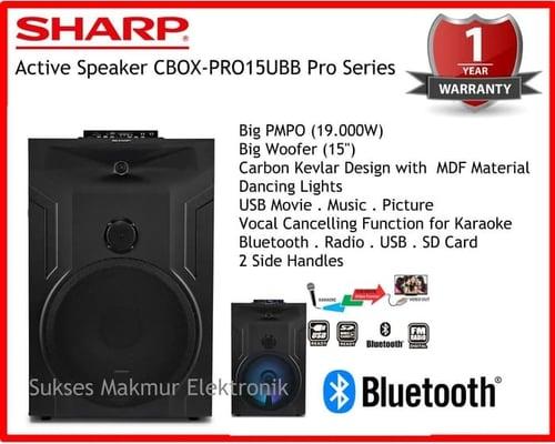 SHARP Speaker Active CBOX-PRO15UBB PMPO 19.000W Pro Series