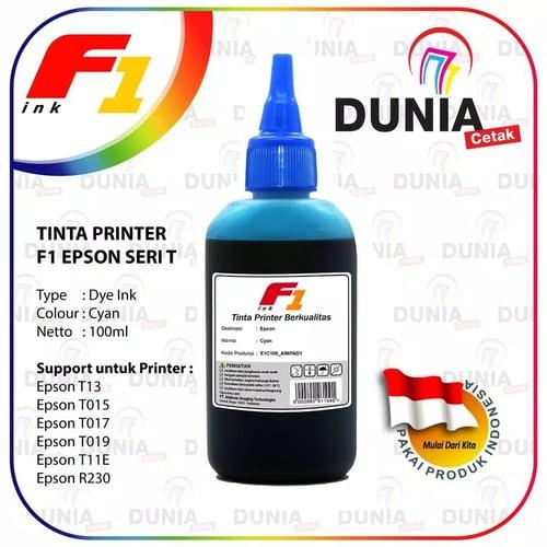 Tinta Printer F1 Ink For Epson T-Series Cyan 100ml