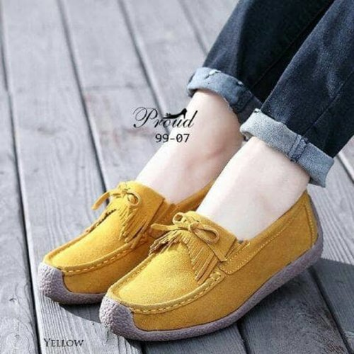 Flat Shoes PS02 Korean Style - YELLOW