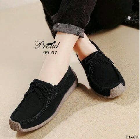 Flat Shoes PS02 Korean Style - BLACK
