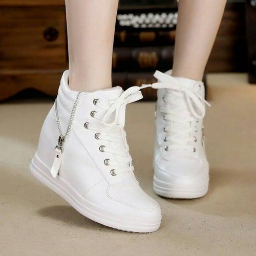 Koleksi Sepatu Boot Wedges CB09 Putih