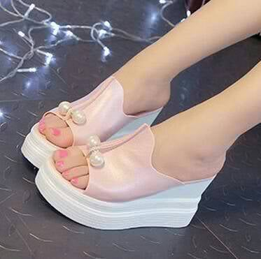 Koleksi Sepatu Wedges Mutiara Salem