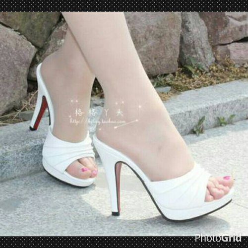 Seaptu High Heels Wanita T11 White