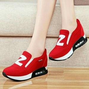 FASHION Sepatu Kets Slip On ZS Red