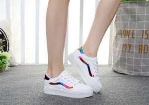 FASHION Sepatu Kets Vans Putih Pelangi