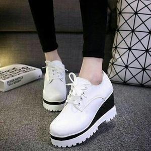 FASHION Sepatu Wedges Doocmart Putih