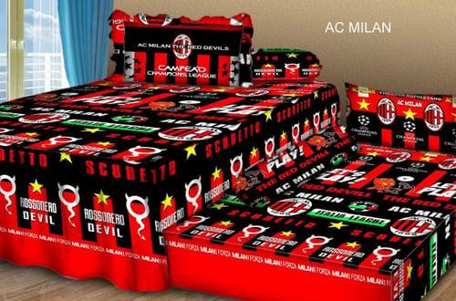 Sprei Sorong 2 in 1 motif AC Milan