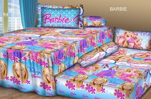 Sprei Sorong 2 in 1 motif Barbie