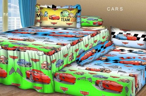 Sprei Sorong 2 in 1 motif Cars