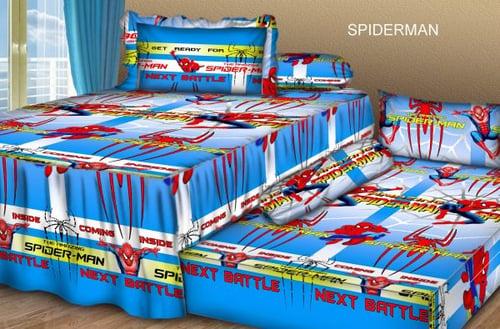 Sprei Sorong 2 in 1 motif Spiderman