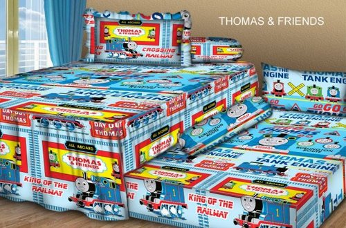 Sprei Sorong 2 in 1 motif Thomas & Friends