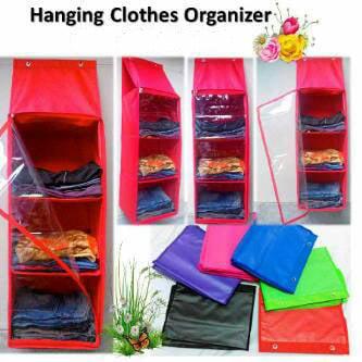 Hanging Clothes Organizer (Rak Pakaian Gantung)
