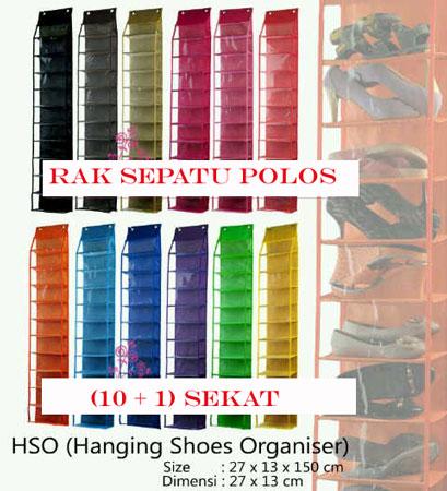 Hanging Shoes Organizer Parasut (HSO) Rak Sepatu Gantung