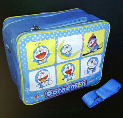 Baby Bag Karakter Doraemon Biru Muda 2in1 Organizer