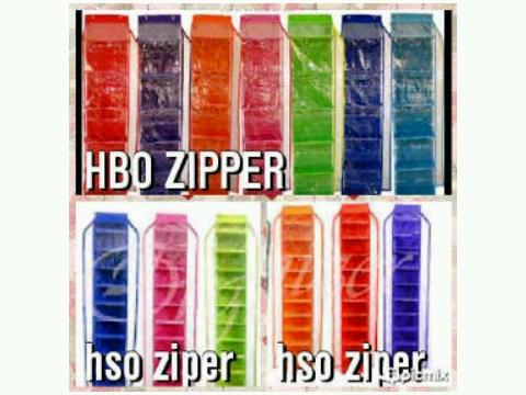 HBOZ Tripleks (Rak Tas Retsleting Triplek Hanging Bag Organizer Zipper