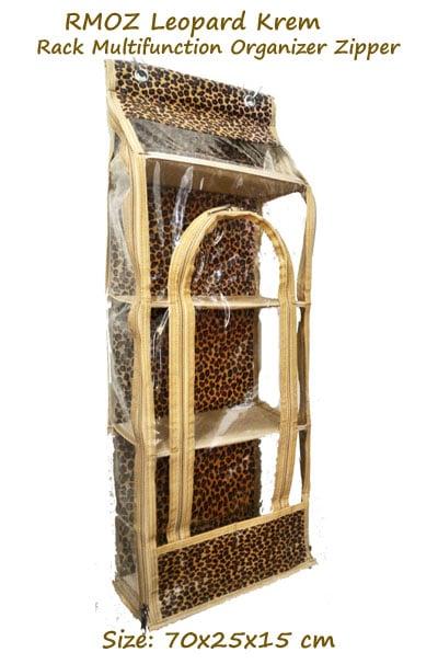 RMOZ Leopard Krem (Rack Multifunction Organizer Zipper) Rak Botol