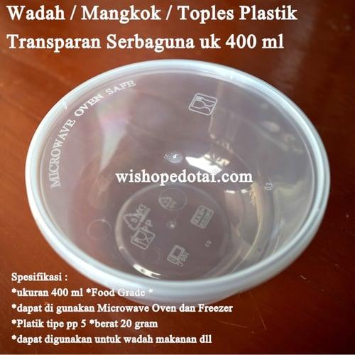 Wadah Plastik Microwave Oven Safe Transparan 400ml