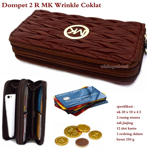 MICHAEL KORS Dompet 2 Ruang Wrinkle Coklat