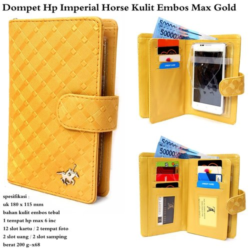 dompet hp alexia imperial horse max  - gold
