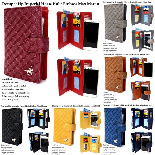 IMPERIAL HORSE Dompet HP Kulit Embos Max