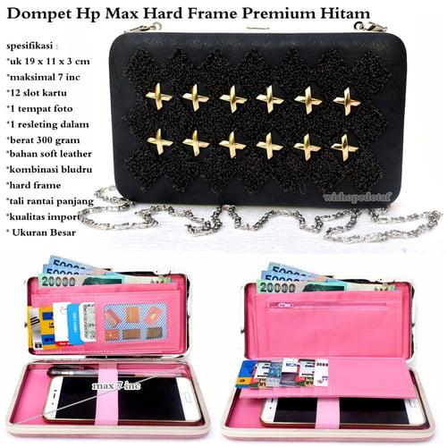 Dompet HP Max Hard Frame Premium Hitam