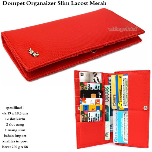 lct Dompet kartu Organaizer Slim Merah