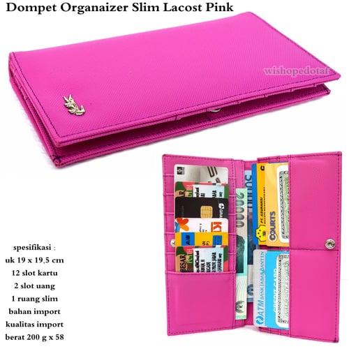 LACOSTE Dompet kartu Organaizer Slim Pink