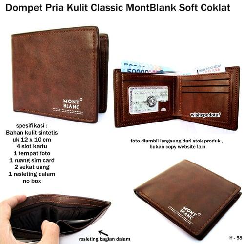 MONT BLANC Dompet Pria Classic Soft Coklat