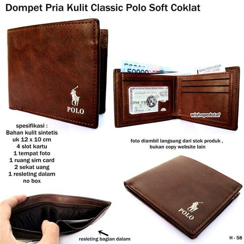 POLO Dompet Pria Classic Soft Coklat