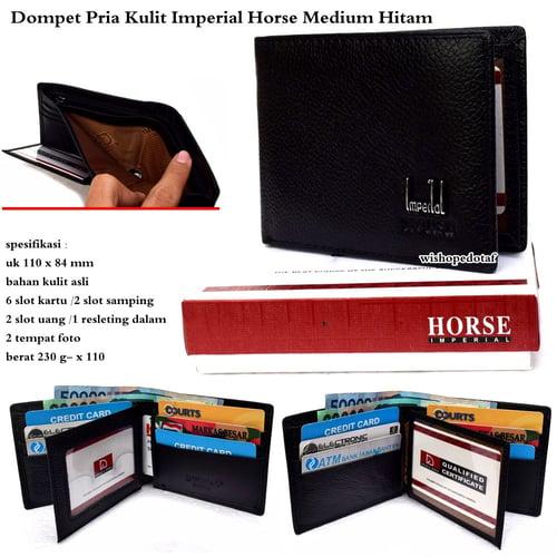 dompet pria kulit imperial horse medium -  hitam