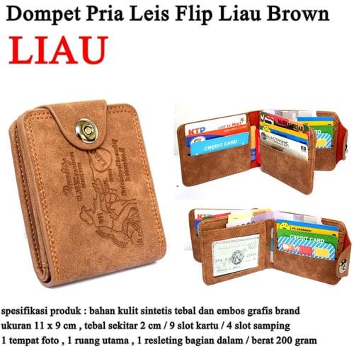 LEVIS Dompet Pria Leather Flip Liau Brown